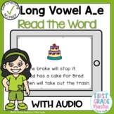 Boom Cards Long Vowel A Silent E Read the Word