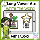 Boom Cards Long Vowel A silent e Write the Word