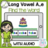 Boom Cards Long Vowel A Silent E Find the Word