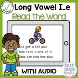 Digital Long Vowel I silent E Read the Word Boom Card