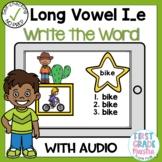 Digital Long Vowel I silent e Write the Word Boom Cards