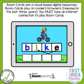 Boom Cards Long I Silent E Phonics Bundle