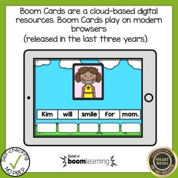 Boom Cards Long Vowel I Silent E Sentence Scrambles