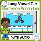 Digital Long Vowel I with Silent E Sentence Scrambles Boom Cards