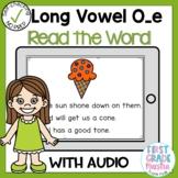 Digital Long Vowel O silent E Read the Word Boom Card