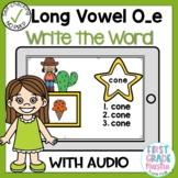 Digital Long Vowel O silent e Write the Word Boom Cards