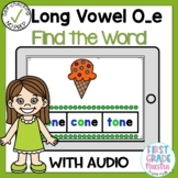 Digital Long Vowel O with Silent E Find the Word Boom Card