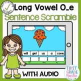 Digital Long Vowel O with Silent E Sentence Scrambles Boom Cards