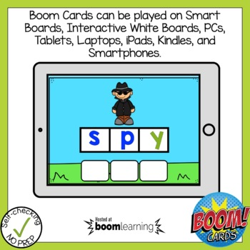 Boom Cards Long Vowel Open Syllable Build A Word