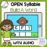 Boom Cards Open Syllable Build A Word