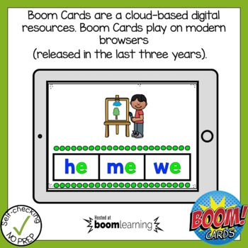 Boom Cards Long Vowel Open Syllable Find the Word