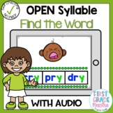Boom Cards Open Syllable Find the Word