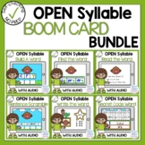 Boom Cards Long Vowel Open Syllable Phonics Bundle