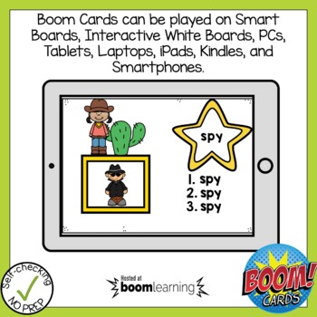 Boom Cards Long Vowel Open Syllable Write the Word