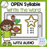 Boom Cards Open Syllable Write the Word
