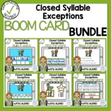 Boom Cards Closed Syllable Exceptions Bundle