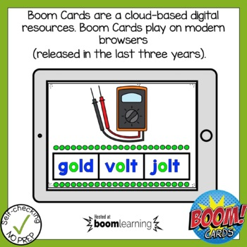 Boom Cards Long Vowel Patterns Find the Word