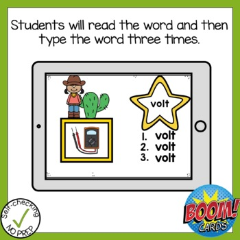 Boom Cards Long Vowel Patterns Write the Word
