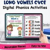 Digital Long Vowel Silent e Phonics Word Work Binder For G