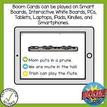 Boom Cards Long U silent E Read the Word Boom Card
