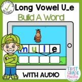 Digital Long Vowel U with Silent E Build A Word Boom Card