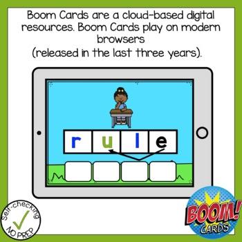 Boom Cards Long U Silent E Build A Word