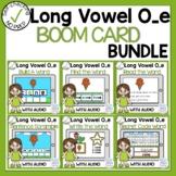 Digital Long Vowel O with Silent E Phonics Boom Cards Bundle
