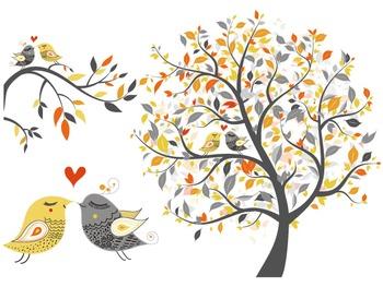 Digital Love Bird Clip Art Tree Branch Clipart Love Bird Y