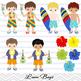 Digital Luau Boy Clip Art, Hawaii Boy Clipart, Tiki Clip Art, Hawaii Clip Art