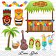 Digital Luau Girl Clip Art, Hawaii Clip Art, Tiki Clipart, Hula Girl Clipart