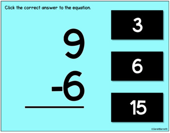 *SALE* Digital MIXED Addition & Subtraction Fact Practice 0 - 10