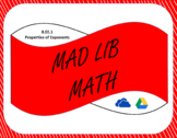 Digital Mad Lib Math Activity - All Exponent Rules (8EE1)