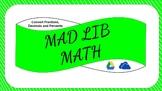 Digital Mad Lib Math Activity - Convert Fractions, Decimal