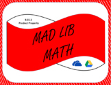 Digital Mad Lib Math Activity-Product Property of Exponents (8EE1)
