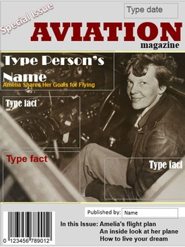 Digital Magazine Covers: Clara Barton and Amelia Earhart