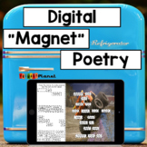 "Digital ""Magnet"" Poetry  Works with Google Slides and Microsoft OneDrive!"
