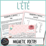 Digital Magnetic Poetry - l'été activity for French learners
