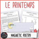 Digital Magnetic Poetry - le printemps activity for French learners