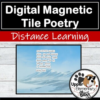 Digital Magnetic Tile Poetry for distance learning