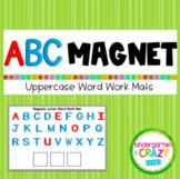 Digital Magnetic UPPERCASE Letter Word Work Mats - Distanc