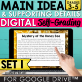 Main Idea and Details Google Classroom™ Distance Learning Set 1