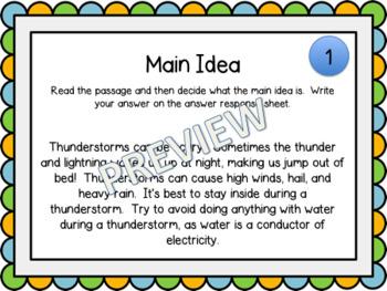 Digital Main Idea Task Cards