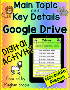 Digital Main Topic and Key Details Google Drive Activity