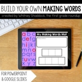 Digital Making Words Mats (Build Your Own)