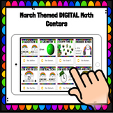 Digital March Math Centers for Kindergarten and First Grade