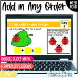 Digital Math 1st Grade FULL WEEK: Add in Any Order Commutative Property