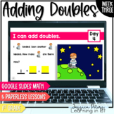 Digital Math 1st Grade WEEK THREE: Addition with Double Facts plus Word Problems