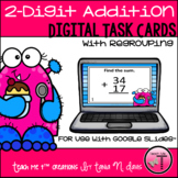 2-Digit Addition Practice| Digital Math| Google Slides™| D