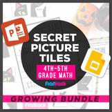 Digital Math 4th-5th Paperless + Printable Secret Picture Tiles GROWING BUNDLE