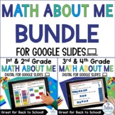 Digital Math About Me Bundle Grades 1-4
